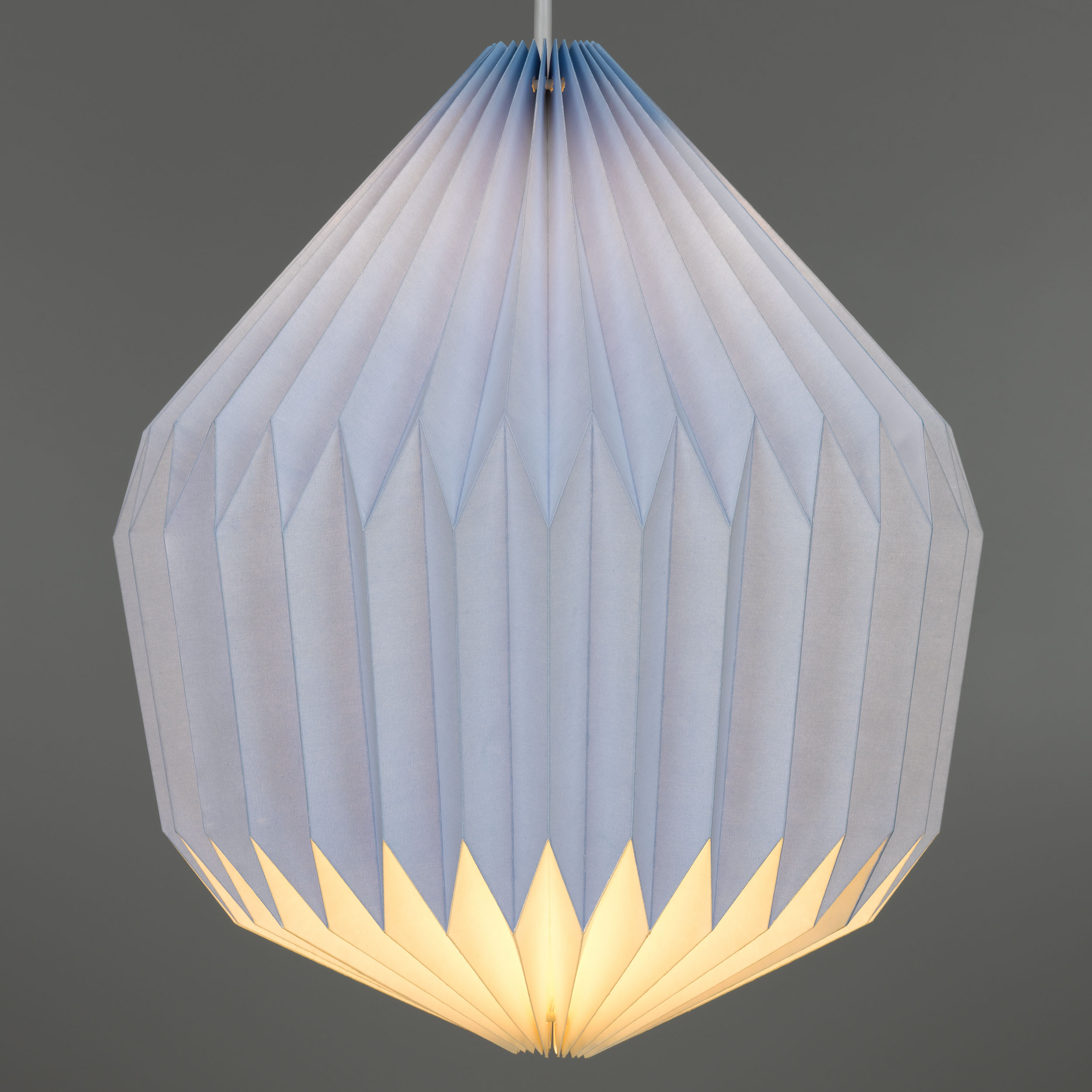 Cornflower Blue Paper Lampshade