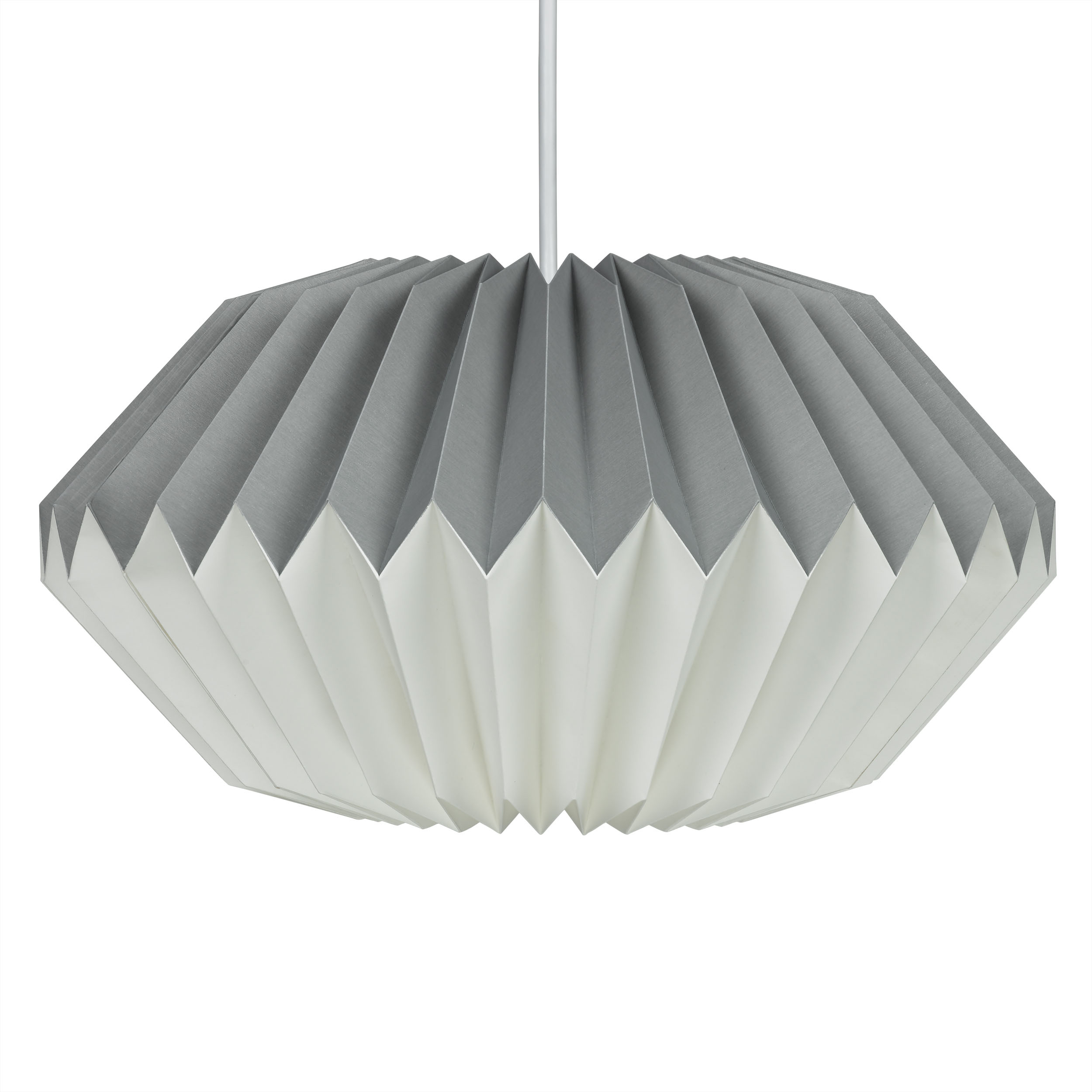 Dove Grey Paper Lampshade