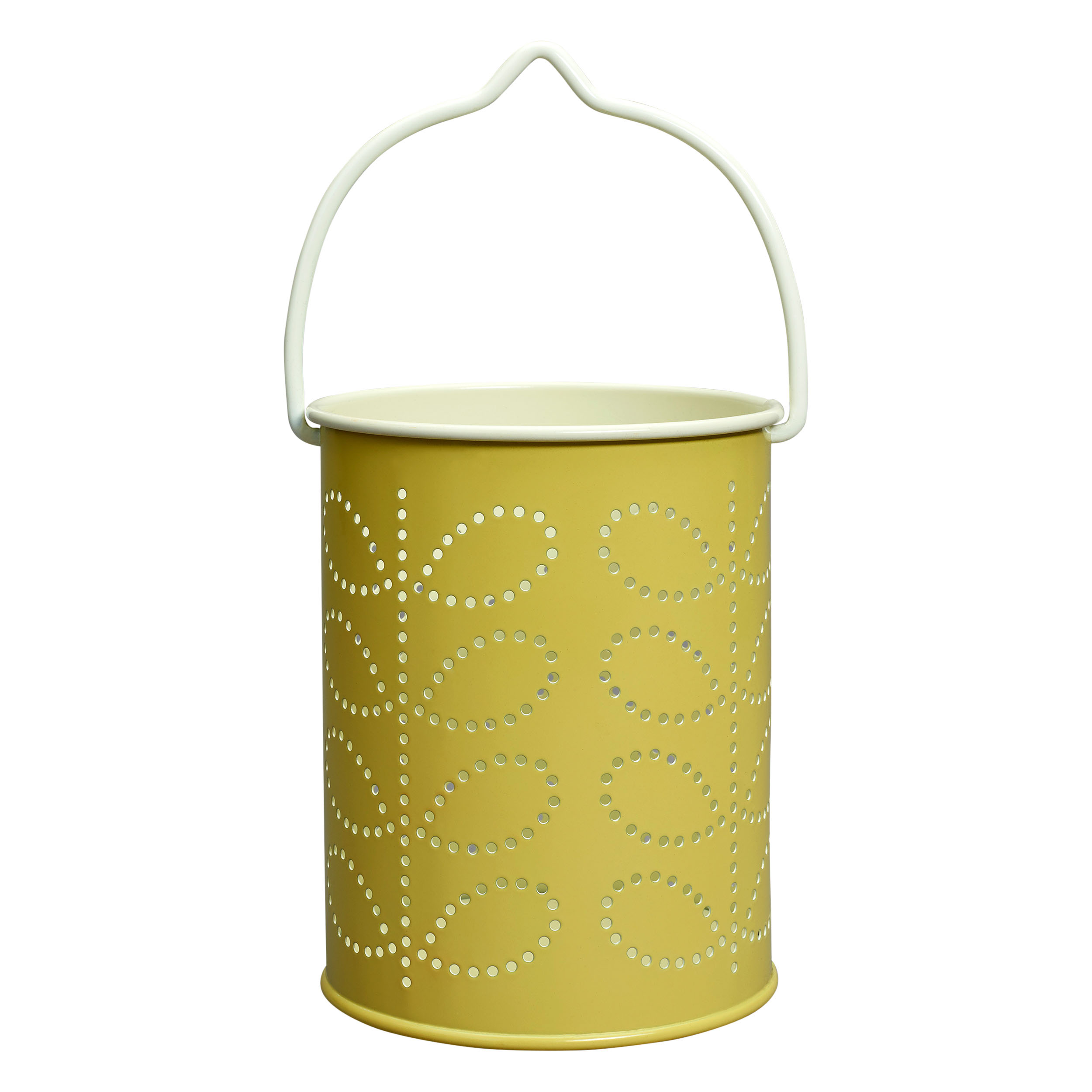 Tea light Lantern – Linear Stem Yellow