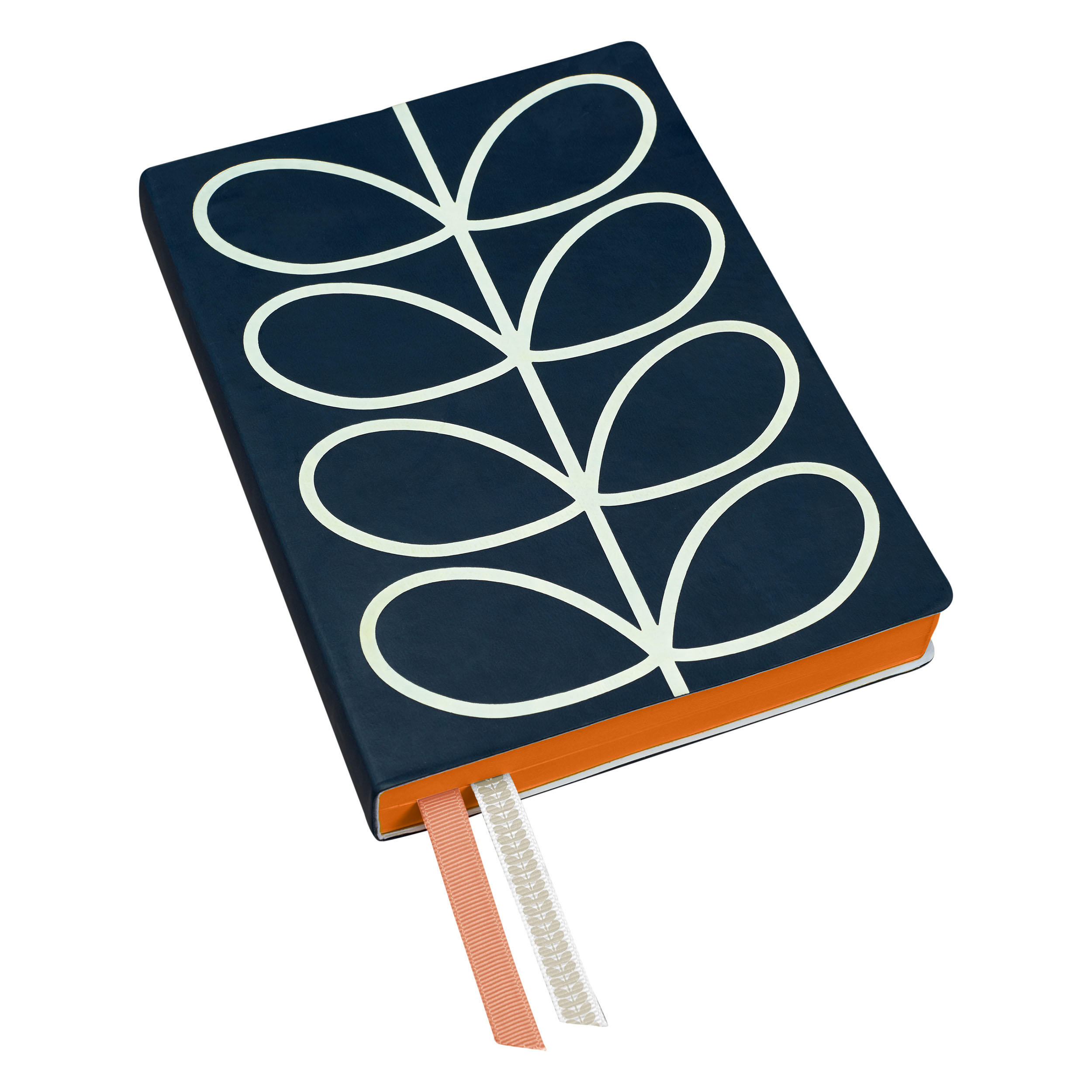 A5 Classic Notebook – Linear Stem Navy
