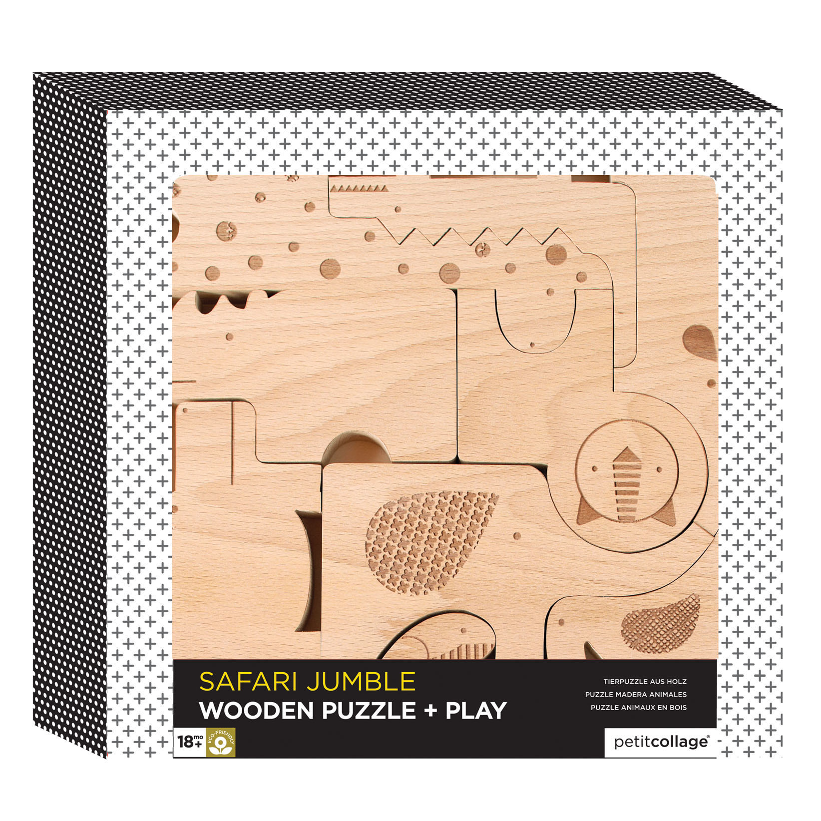 Safari Wood Puzzle & Play Set