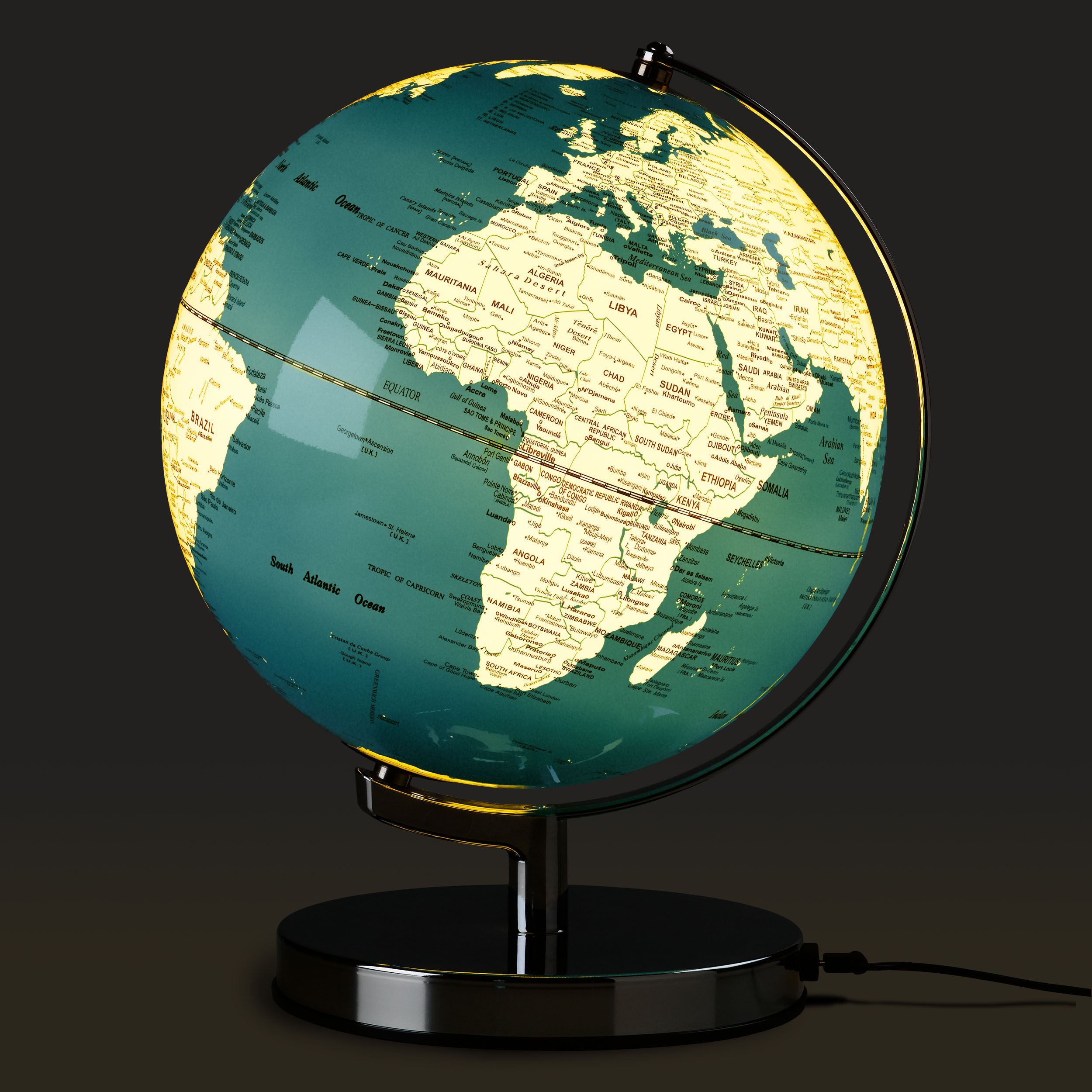 French Blue Globe Light