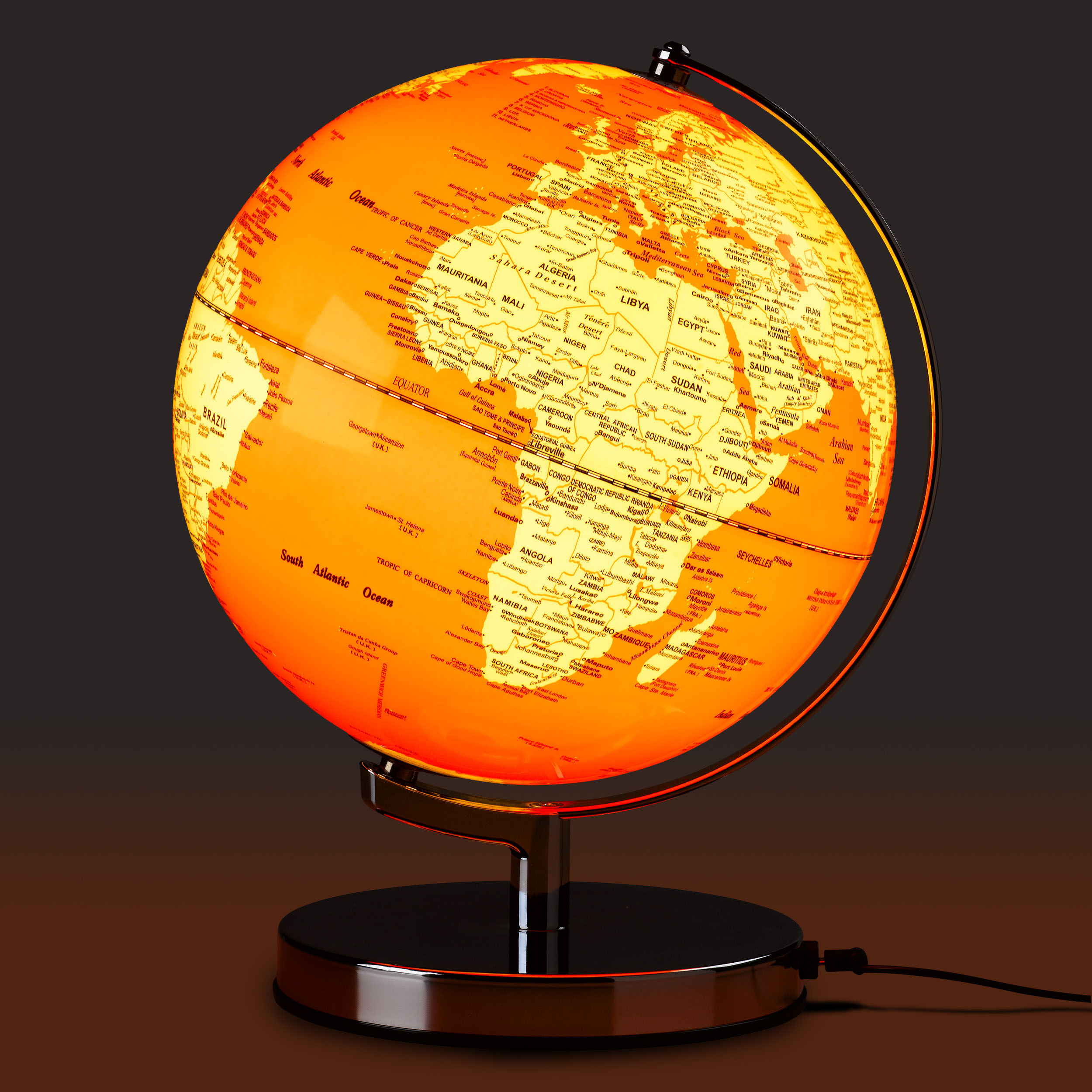 Goldfish Orange Globe Light
