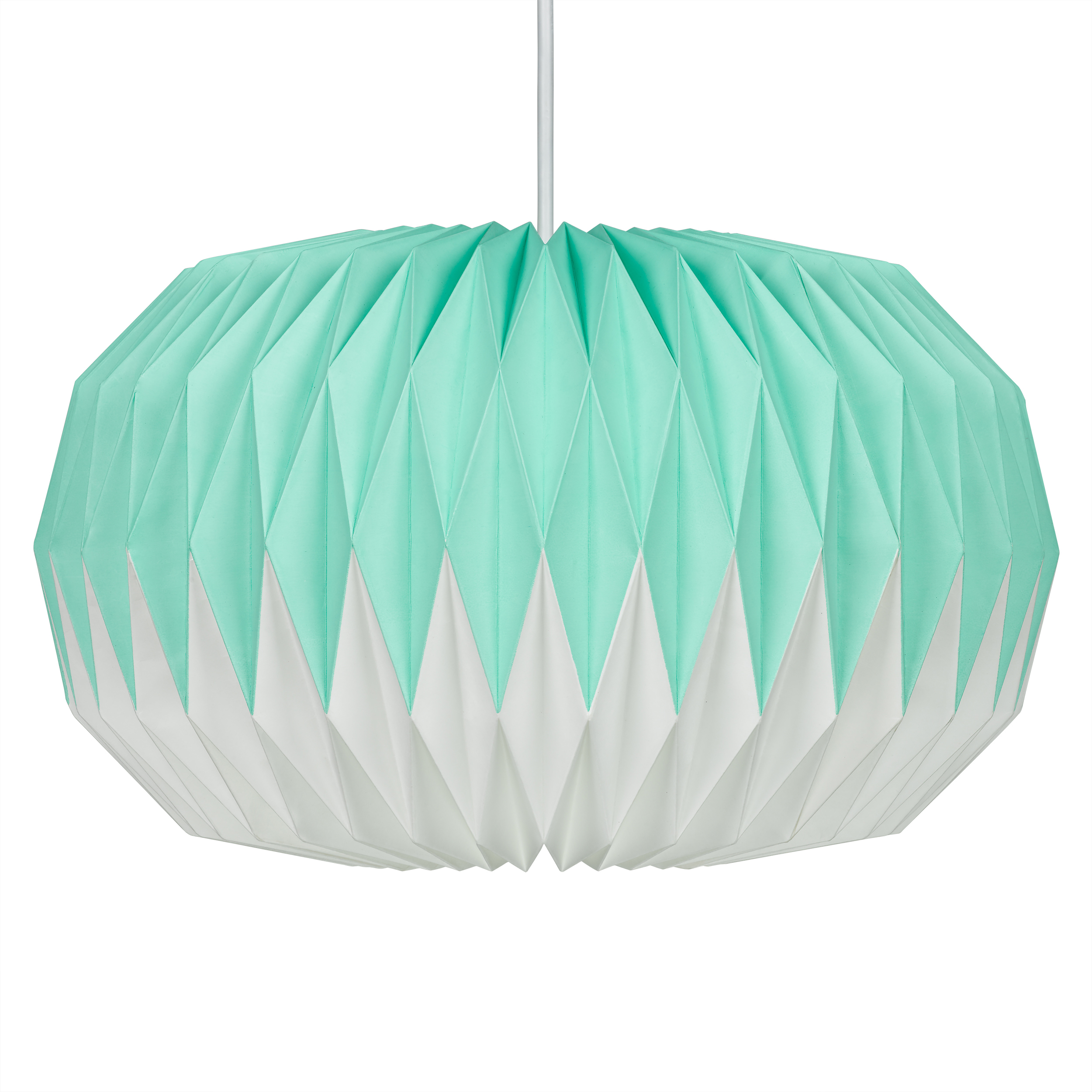 Mint Green Paper Lampshade