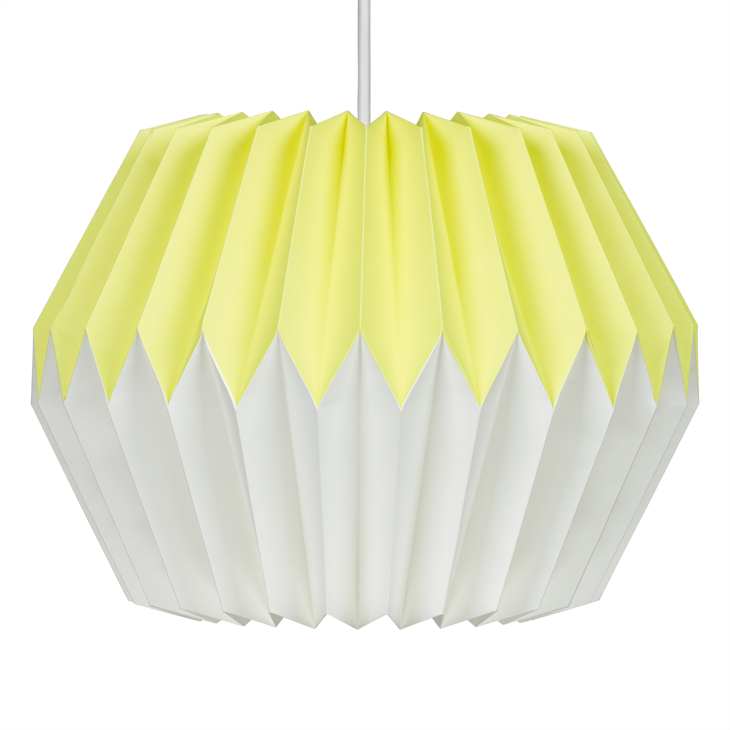 Lemon Yellow Paper Lampshade