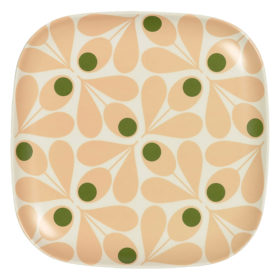 Bamboo Side Plate, Acorn Spot, Pale Rose
