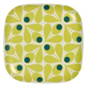 Bamboo Side Plate, Acorn Spot, Elderflower