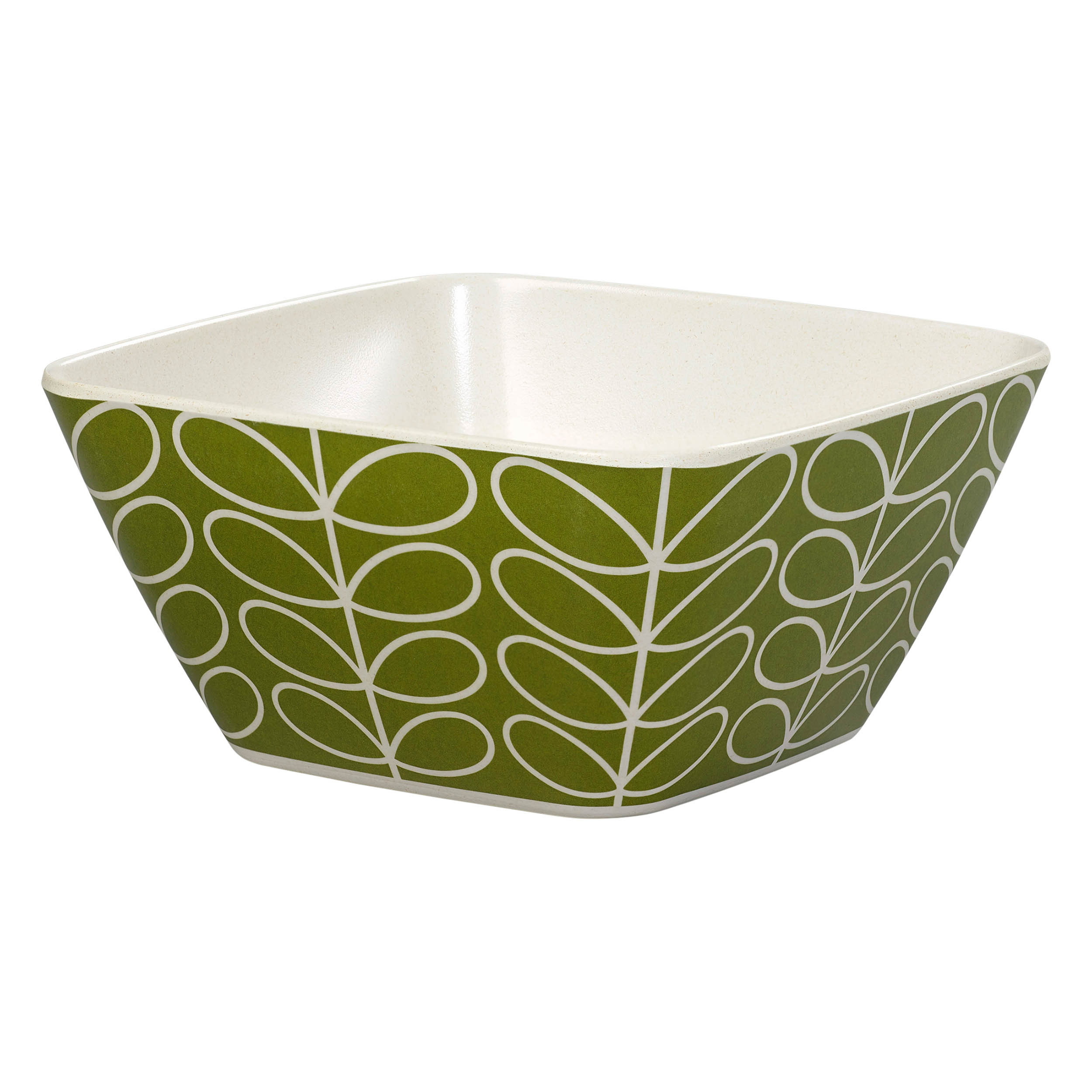 Bamboo Bowl, Linear Stem, Seagrass