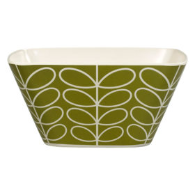 Bamboo Salad Bowl, Linear Stem, Seagrass