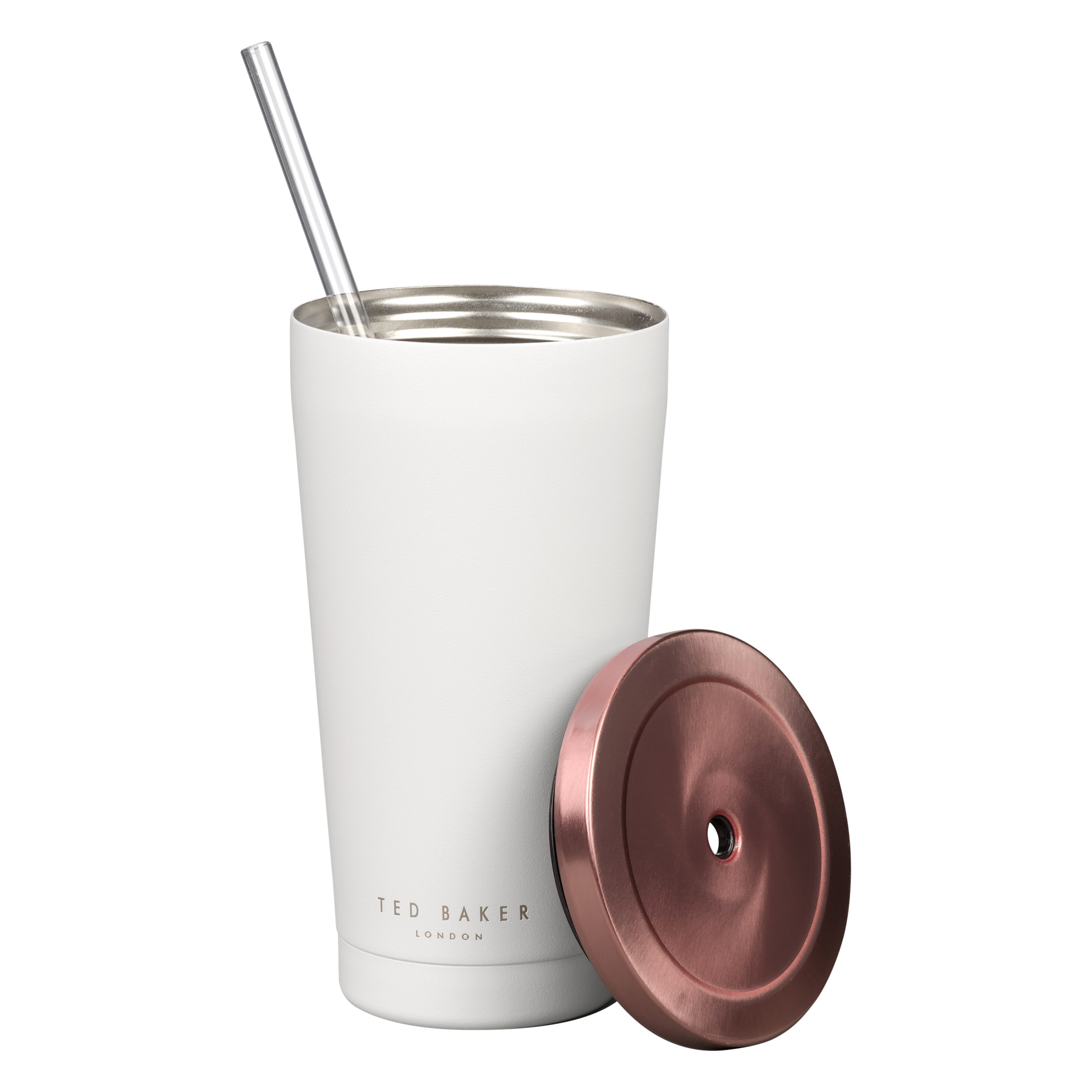 Tumbler with Straw, White
