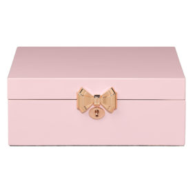 Jewellery Box with Musical Ballerina, Lacquer, Hero Pink