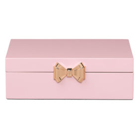Medium Jewellery Box, Lacquer, Pink