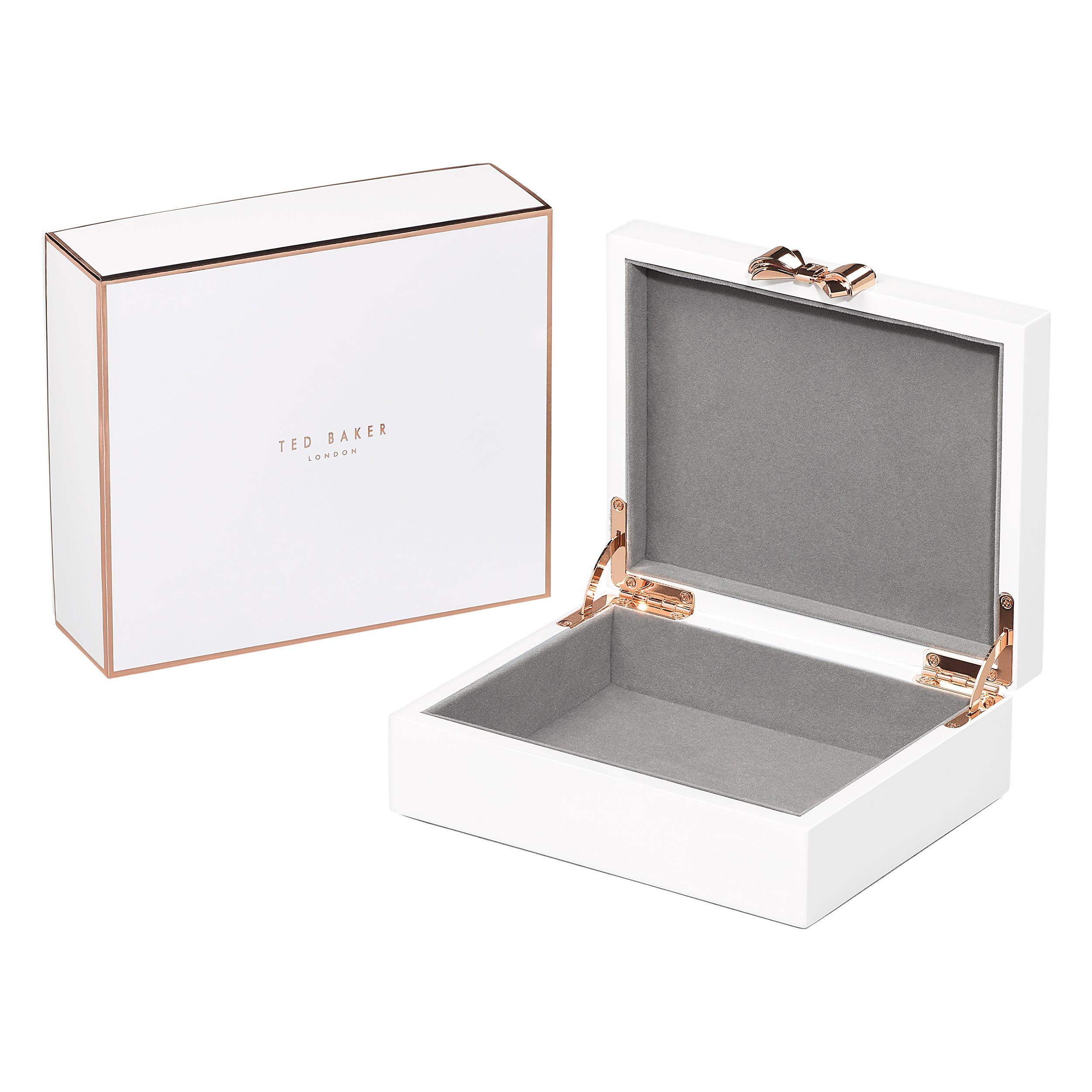 Medium Jewellery Box, Lacquer, White