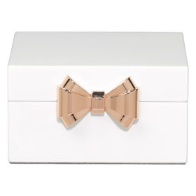 Small Jewellery Box, Lacquer, White
